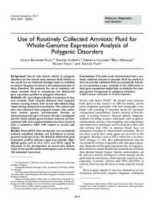 Use of Routinely Collected Amniotic Fluid for ... - Clinical Chemistry