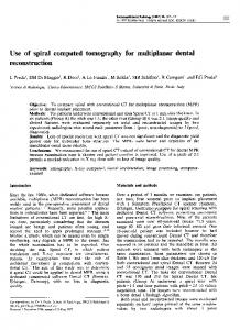 Use of spiral computed tomography for multiplanar dental reconstruction.