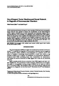 Use of Support Vector Machines and Neural Network ... - Springer Link