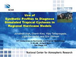 Use of Synthetic Profiles to Diagnose Simulated Tropical Cyclones in