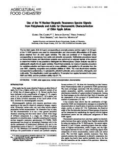 Use of the 1H Nuclear Magnetic Resonance Spectra Signals from ...