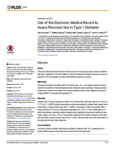 Use of the Electronic Medical Record to Assess ... - Semantic Scholar