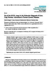 Use of the MLPA Assay in the Molecular Diagnosis of Gene Copy - MDPI