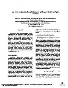 Use of the Modulation Transfer Function to Measure ... - IEEE Xplore