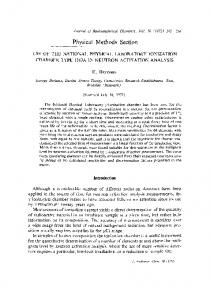 Use of the National Physical Laboratory ionization chamber type ...