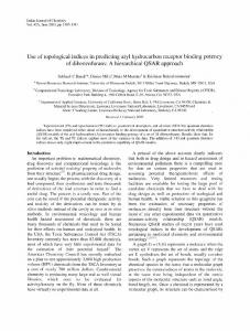 Use of topological indices in predicting aryl hydrocarbon ... - NOPR