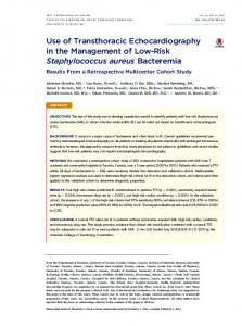 Use of Transthoracic Echocardiography in the Management of Low ...