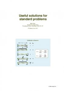 Useful solutions for standard problems