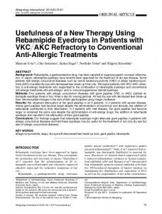 Usefulness of a New Therapy Using Rebamipide Eyedrops in ... - Core