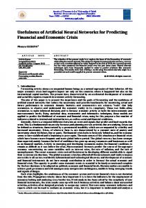 Usefulness of Artificial Neural Networks for Predicting Financial and ...