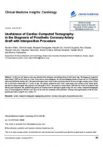 Usefulness of cardiac computed Tomography in the Diagnosis of ...