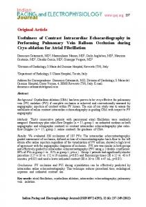 Usefulness of Contrast Intracardiac Echocardiography in Performing