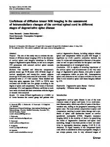 Usefulness of diffusion tensor MR imaging in the ... - Springer Link