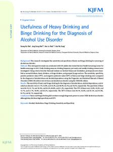 Usefulness of Heavy Drinking and Binge ... - KoreaMed Synapse