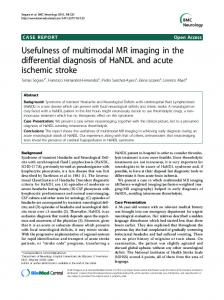 Usefulness of multimodal MR imaging in the differential ... - Springer Link