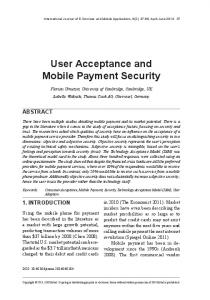User Acceptance and Mobile Payment Security
