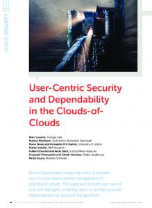 User-Centric Security and Dependability in the Clouds-of- Clouds