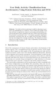 User Daily Activity Classification from Accelerometry ... - Springer Link