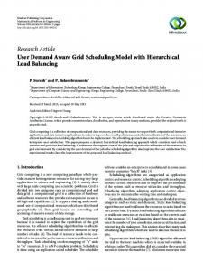 User Demand Aware Grid Scheduling Model with Hierarchical Load ...