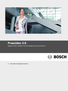 User Guide / Instruction Book - Bosch Security Systems