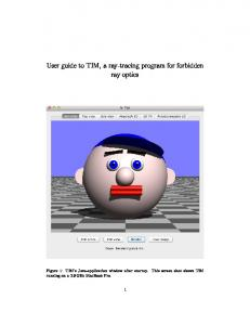 User guide to TIM, a ray-tracing program for forbidden