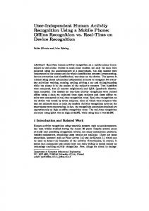 User-Independent Human Activity Recognition Using a Mobile Phone ...