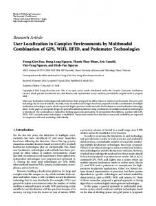 User Localization in Complex Environments by Multimodal