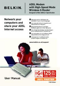 User Manual Network your computers and share your ADSL ... - Belkin