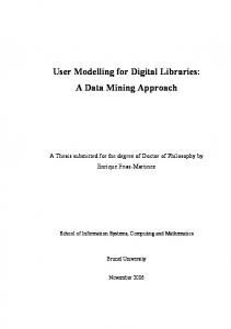 User Modelling for Digital Libraries: A Data Mining Approach