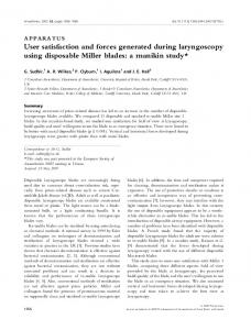 User satisfaction and forces generated during ... - Wiley Online Library