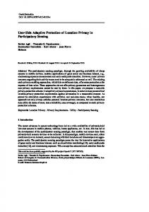User-Side Adaptive Protection of Location Privacy ... - Infoscience - EPFL