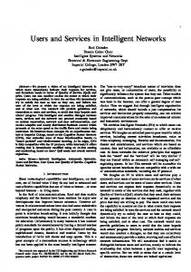 Users and Services in Intelligent Networks - Semantic Scholar