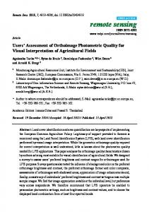 Users' Assessment of Orthoimage Photometric Quality for Visual