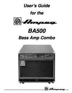 users guide for the bass amp combo ampeg_59f9a2cb1723dd2e7acb5f0e ba 108 & ba 110 ampeg mafiadoc com  at highcare.asia