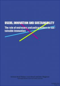 users, innovation and sustainability