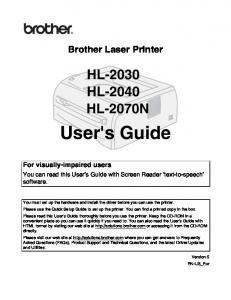Users Manual - Brother