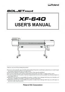 Users Manual, XF-640, English - Support