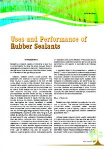 Uses and Performance of Rubber Sealants Uses and ...