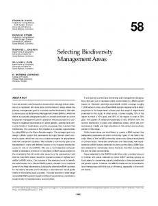 USGS DDS-43, Selecting Biodiversity Management Areas
