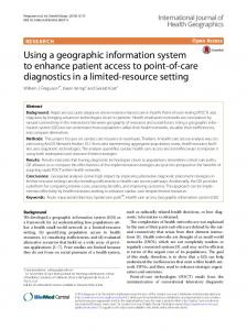 Using a geographic information system to enhance patient access to ...