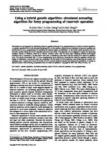 Using a hybrid genetic algorithm-simulated ... - Wiley Online Library