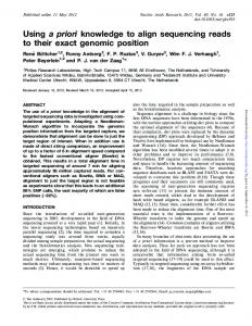 Using a priori knowledge to align sequencing reads to