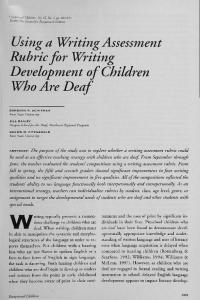 Using a Writing Assessment Rubric for Writing