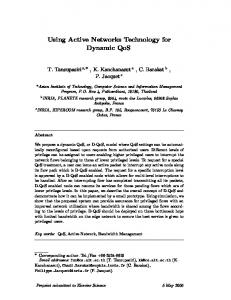 Using Active Networks Technology for Dynamic QoS - Sophia - Inria