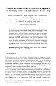 Using an Architecture-Centric Model-Driven Approach ... - Springer Link