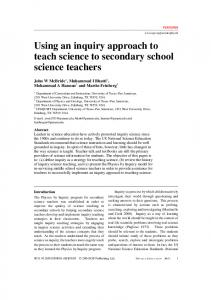 Using an inquiry approach to teach science to secondary school ...
