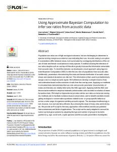 Using Approximate Bayesian Computation to infer sex ...