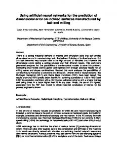 Using artificial neural networks for the prediction of ...