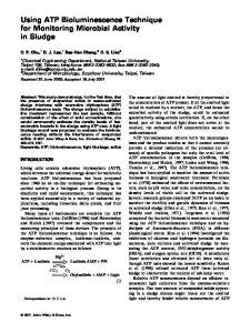 Using ATP bioluminescence technique for ... - Wiley Online Library