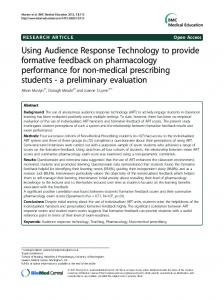 Using Audience Response Technology to provide ... - BioMedSearch
